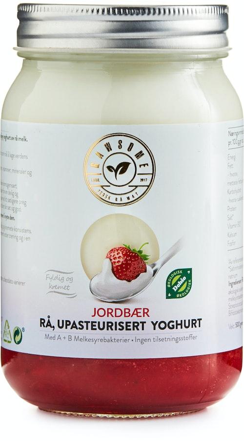 Rawsome Upasteurisert Rå Jordbæryoghurt 500 ml