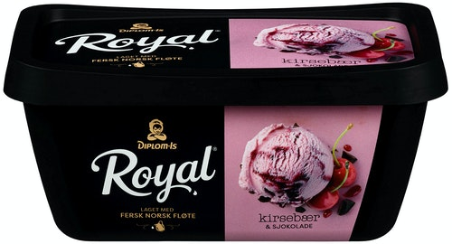 Diplom-Is Royal Kirsebær & Sjokolade 0,9 l