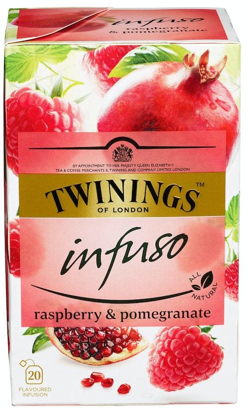 Twinings Raspberry & Pomegranat-te Infuso, 20 stk