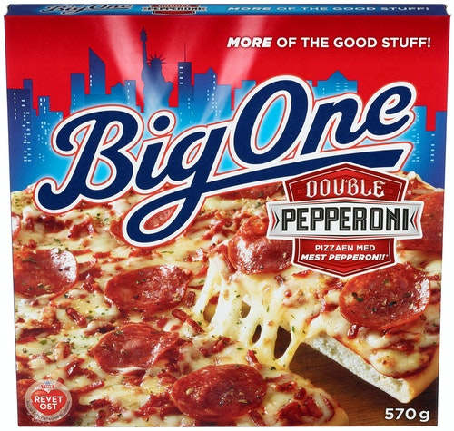 Big One Big One Pepperoni Pizza 590 g