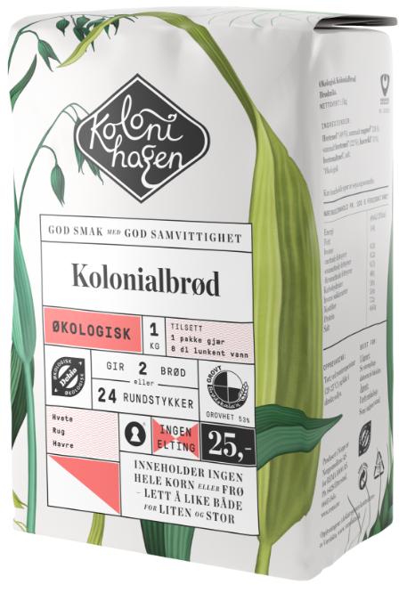Kolonihagen Brødmiks Kolonialbrød Økologisk, 1 kg