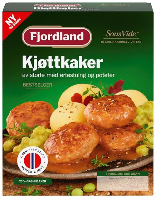 Fjordland Kjøttkaker med Ertestuing 605 g
