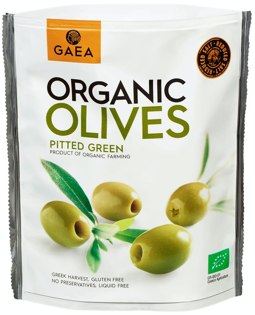 Gaea Organic Olives Pitted Green Økologisk, 150 g