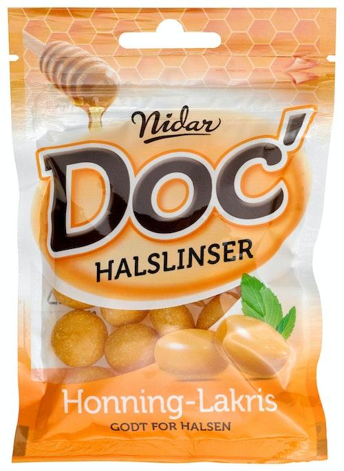 Nidar Doc Halslinser Honning-Lakris 50 g