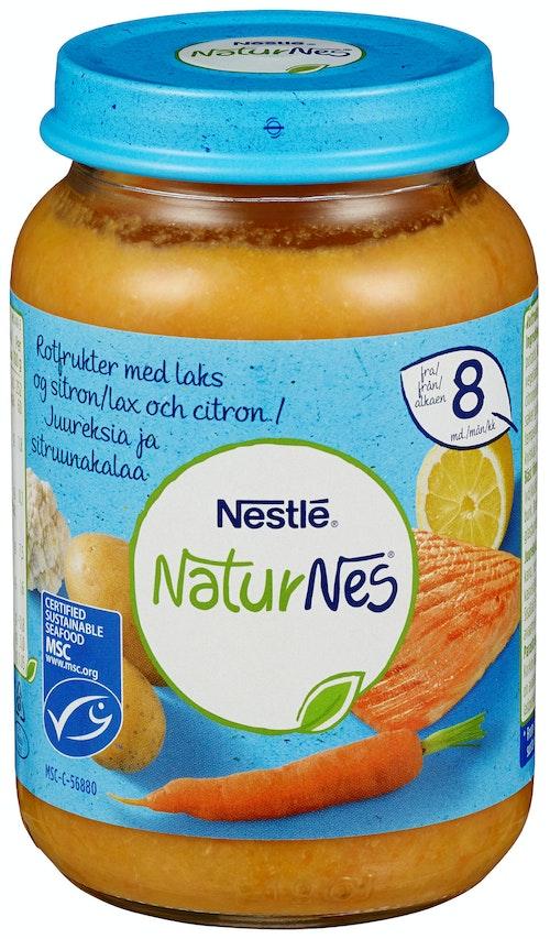 Nestlé NaturNes Rotfrukter med Laks Fra 8 mnd, 190 g