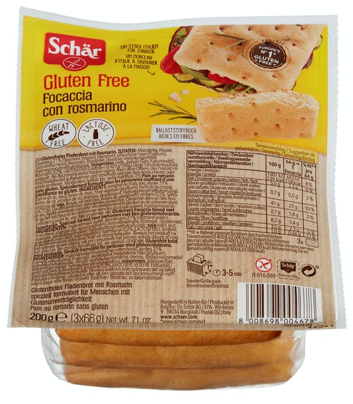 Schär Focaccia med Rosmarin Glutenfri, 200 g
