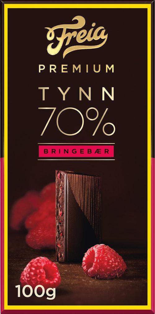 Freia Premium 70% Bringebær 100 g