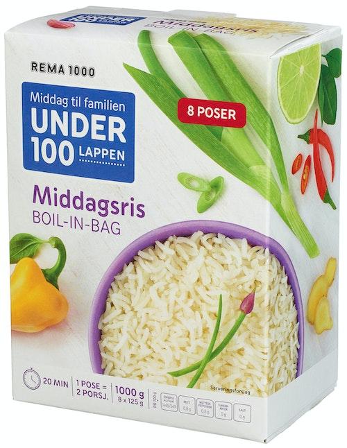 REMA 1000 Middagsris Boil In Bag 8x125g, 1 kg