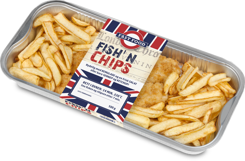 Norway Seafoods Fish and Chips Rett i Ovnen, 500 g