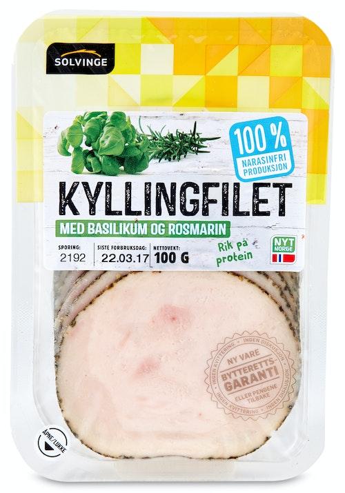 Solvinge Kyllingfilet Basilikum 80 g