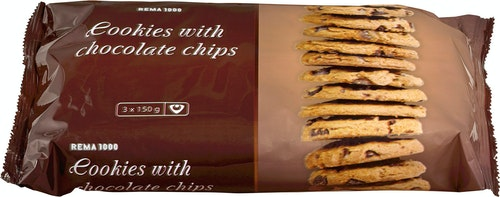 REMA 1000 Cookies Choc Chip 450 g