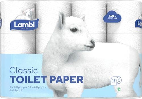 Lambi Toalettpapir Hvit Lambi 12 stk