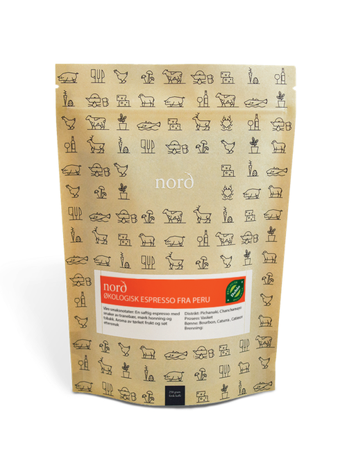 Nord Brenneri Økologiske Espressobønner 250 g