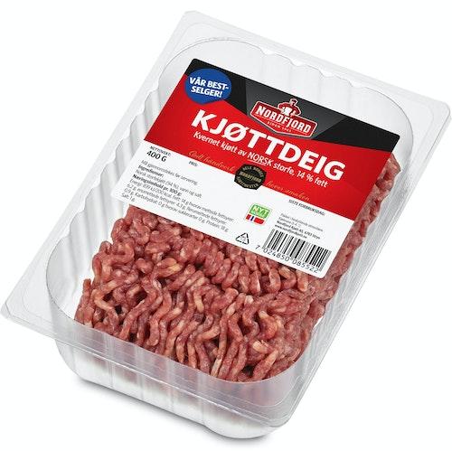 Nordfjord Kjøttdeig av Storfe 14%, 400 g