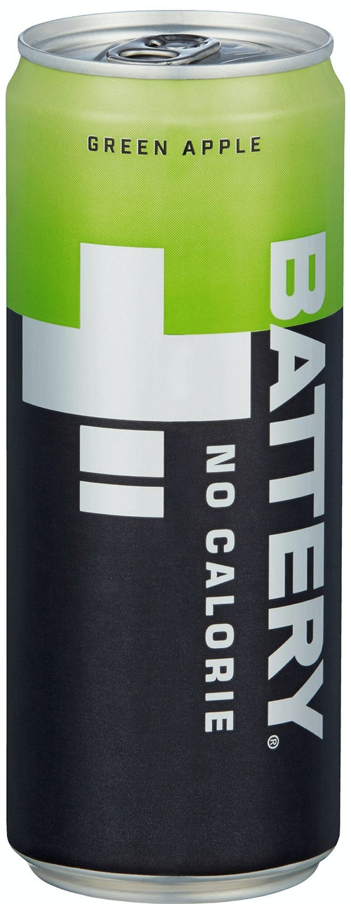 Battery Battery Green Apple No Calories, 0,33 l