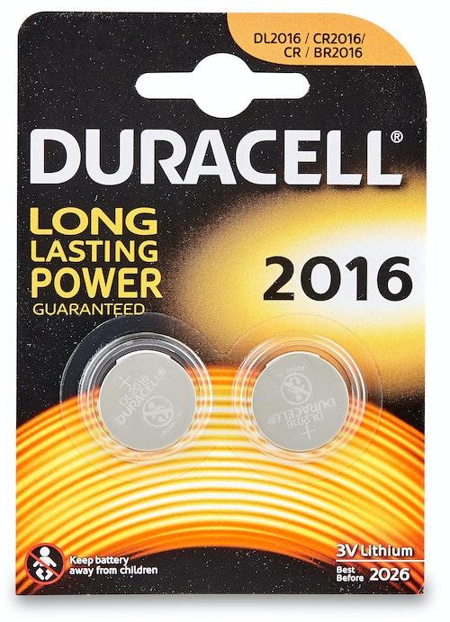 Duracell Batteri 2016 3V Lithium 2 stk
