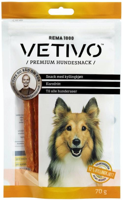 Vetivo Kyllingsnacks Til Hund 70 g