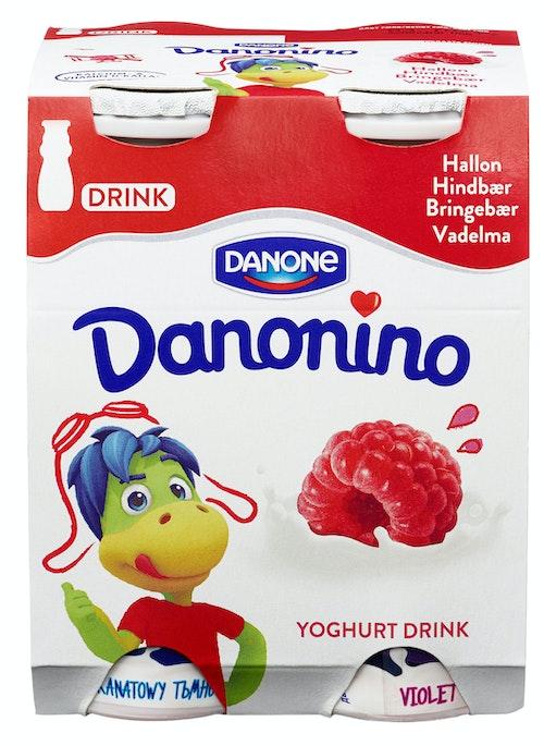 Danonino Drikkeyoghurt Bringebær 4x100g, 400 g