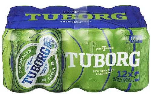 Tuborg Tuborg Grøn 12 x 0,33l, 3,96 l
