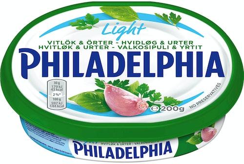Philadelphia Philadelphia Hvitløk & Urter 200 g