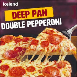 Iceland Dobbel Pepperoni Pizza Deep Pan, 346 g