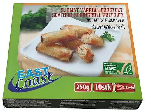 East Coast Vårruller Med Scampi Glutenfri forstekt, 10 stk