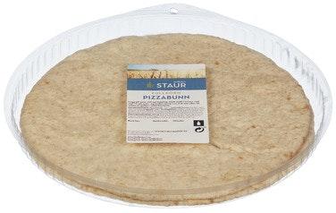 Staur Fjellbakeri Pizzabunn fullkorn, ca 29 cm 2 stk, 360 g