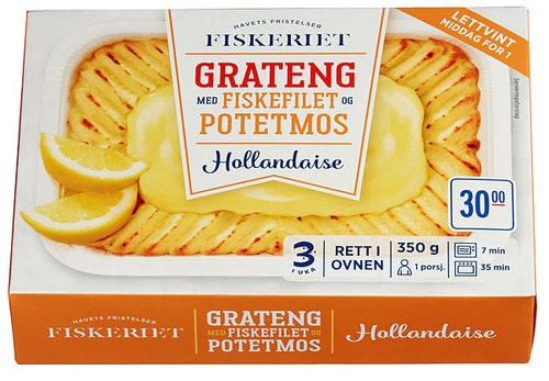 REMA 1000 Fiskegrateng m/Potet og Hollandaise, 350 g