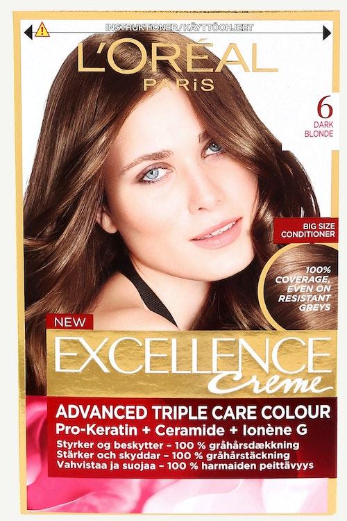 L'Oreal Excellence 6 Mørkeblond 1 stk