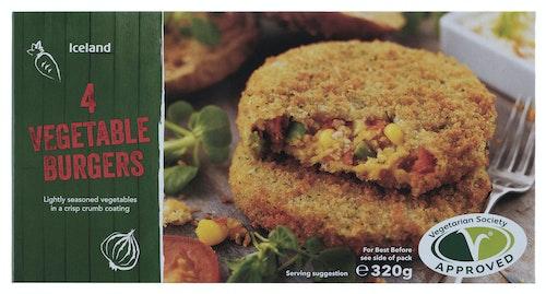 Iceland Vegetarburgere 4 stk, 320 g