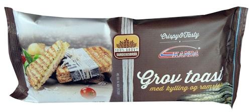 Kanda Grov Toast Med Kylling & Ramsløk, 2 stk