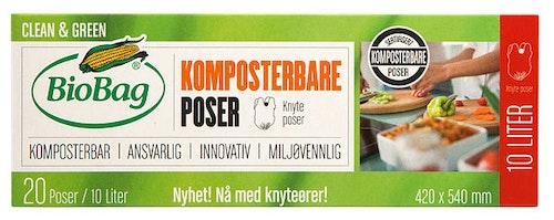 Biobag Komposterbare Poser 10l, 20 stk