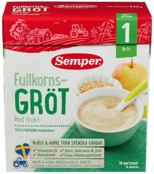 Semper Fullkornsrøt Eple & Pære Fra 12 mnd, 530 g