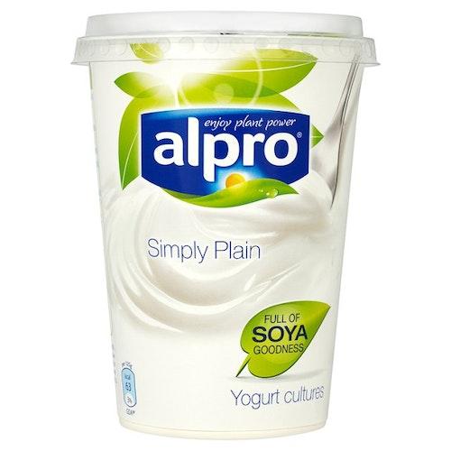 Alpro Soyayoghurt Naturell Naturell Økologisk, 500 ml