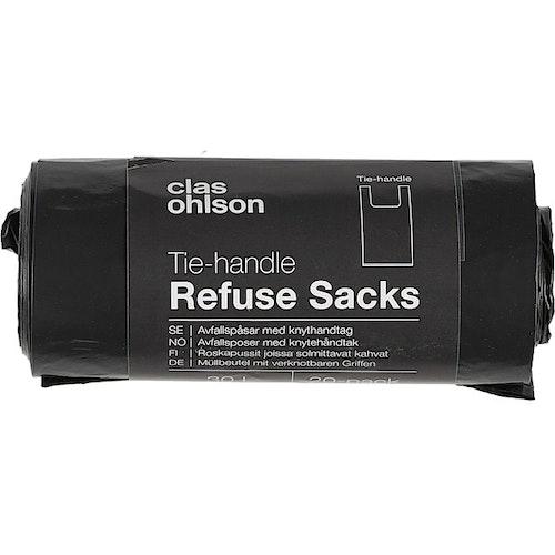 Clas Ohlson Avfallsposer m/håndtak 25L, 20 stk