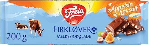 Freia Firkløver Appelsin, Nøtter og Havsalt, 200 g