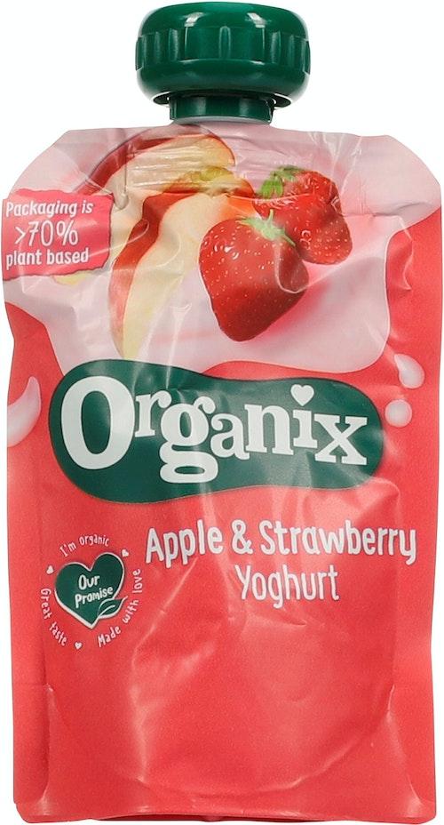 Organix Yoghurt Apple & Strawberry 6 Mnd, 100 g