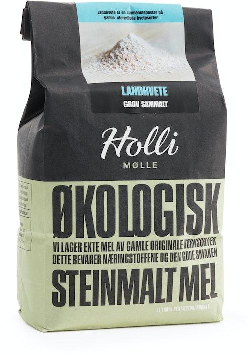 Holli Mølle Økologisk Landhvete Grovmalt 1 kg