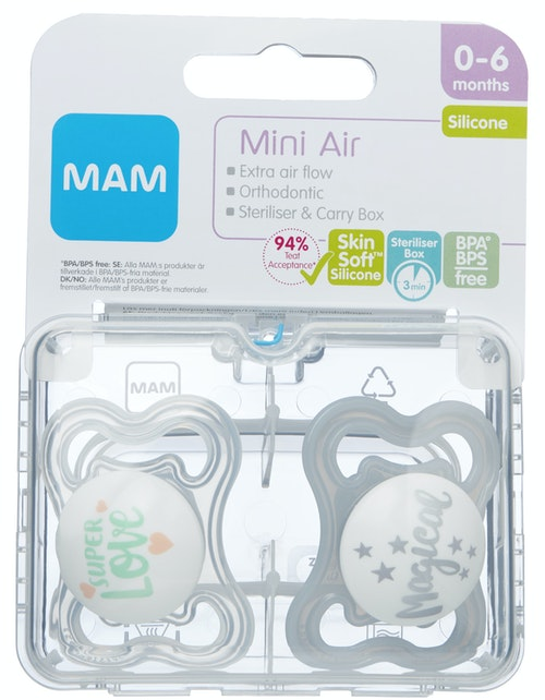 MAM Smokk Air 0-6mnd Silk Steribox, 2 stk