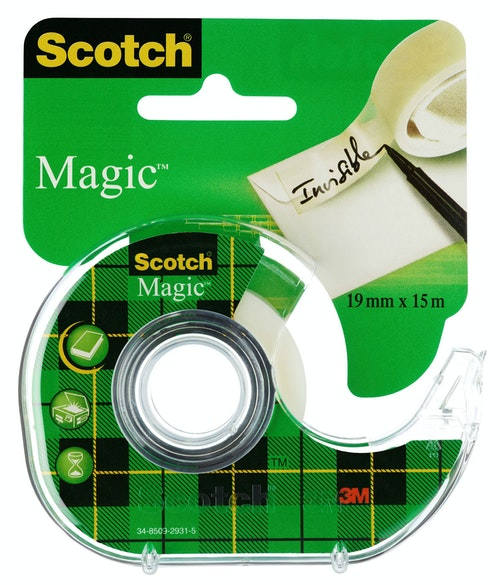 Scotch Scotch Tape Magic med Holder 15m, 1 stk