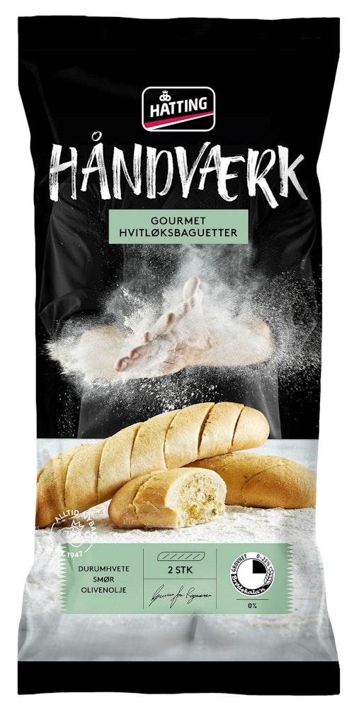 Hatting Gourmet Hvitløksbaguetter 2 stk, 350 g