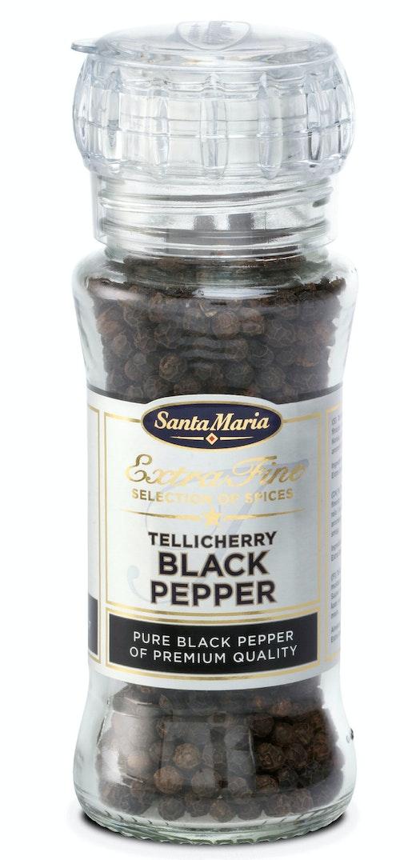 Santa Maria Tellicherry pepper Med kvern, 70 g