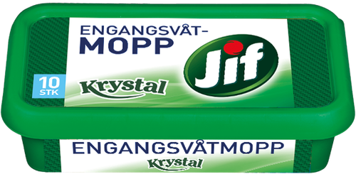 Jif Engangsvåtmopp Krystal, 10 stk