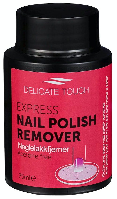 Delicate Touch Express Nail Polish Remover Acetone Free, 75 ml