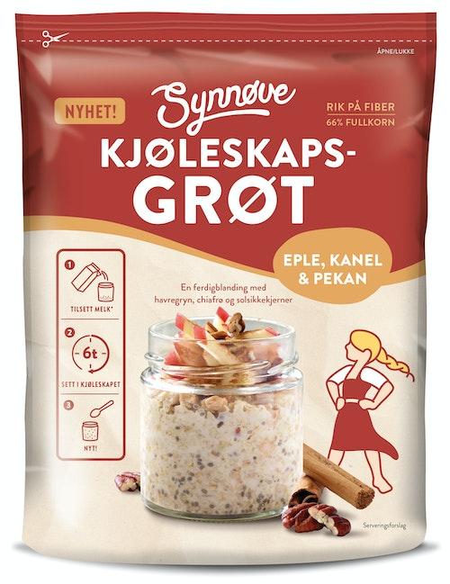 Synnøve Synnøve Kjøleskaps Grøt Eple Kanel & Pekan, 300 g