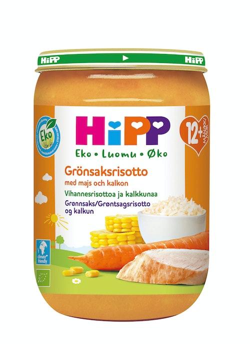 Hipp Grønnsaksrisotto & Kalkun Fra 12 mnd, 220 g