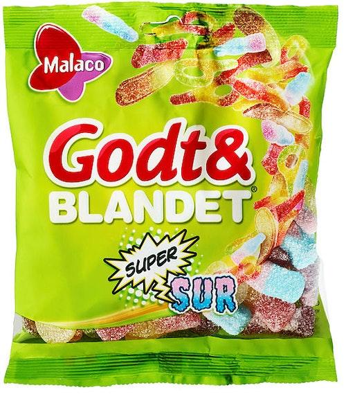 Malaco Godt & Blandet Supersurt 170 g