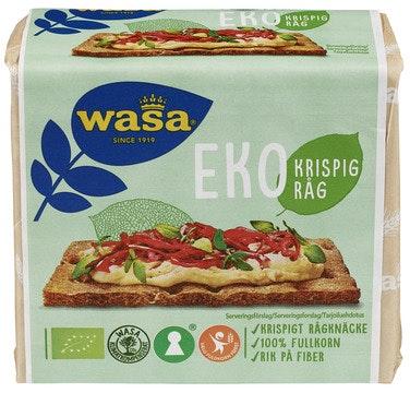 Wasa Eko Krispig Råg Økologisk, 180 g
