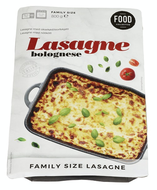 Food Collective Lasagne Bolognese Familiepakkning, 800 g