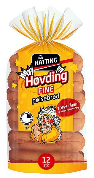 Hatting Høvding Fine Pølsebrød 12 stk, 480 g